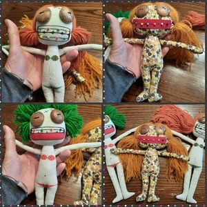 3 zombie rag dolls scary/cute! Monsters